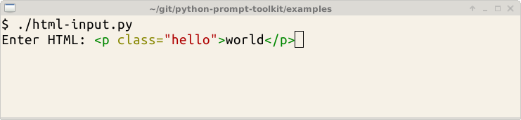 Building prompts — prompt_toolkit 1 0 15 documentation